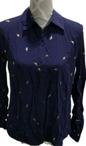 Anthropologie Luna Moon cocktail time button up